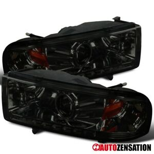 For 1994 2001 Dodge Ram 1500 2500 3500 Smd Led Strip Smoke Projector Headlights