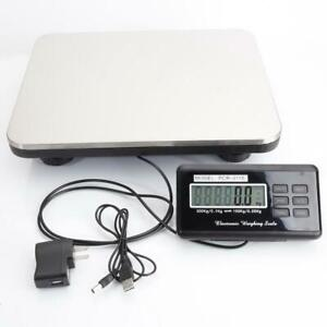 660lbs Digital 300kg X 100g Bench Scale Steel Platform For Kitchen Postal Pet