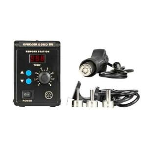 858 Rework Welding Soldering Station Desolder W 3 Nozzles Hot Air Gun Smd 110v