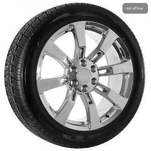 22 Chrome Chevy Truck Silverado Tahoe Wheels Rims Tires Ck375