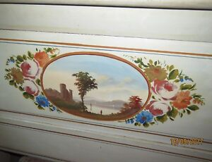 Amazing Antique Hand Painted Maine Bedroom Set 5 Pc Cottage Style Must See