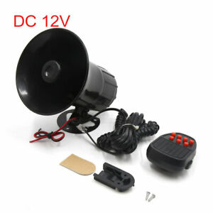 Dc 12v Multi sounds Loud Security Safety Warning Siren Horn For Car Motorcycle