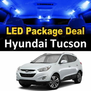 6x Blue Led Lights Interior Package Deal For 2010 2011 2012 2013 Hyundai Tucson