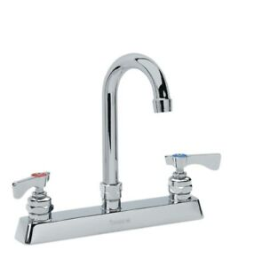 Krowne Metal 15 525l Royal 3 5 Gooseneck Spout Faucet 8 Deck Mount Low Lead