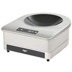 Vollrath 6958301 17 w Countertop Induction Wok Range W 14 Carbon Steel Wok
