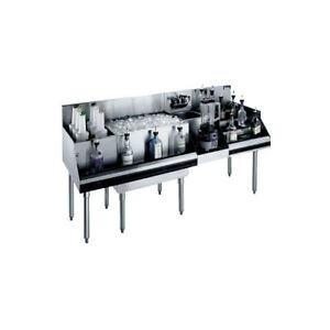 Krowne Metal Royal 1800 Series 60 w Underbar Ice Bin cocktail Station
