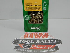 Spax Screws Made In Usa 1 1 4 Interior Flat Head 8 5 Lbs