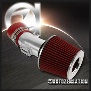 For 07 12 Nissan Altima V6 Cold Air Intake Pipe Induction Red Filter