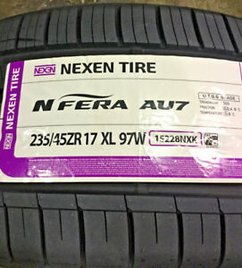4 New 235 45 17 Nexen N fera Au7 Tires