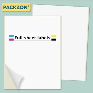 3000 Shipping Labels Full Sheet 8 5x11 Self Adhesive Packzon
