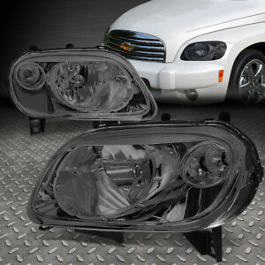 For 06 11 Chevy Hhr Smoked Housing Clear Corner Headlight Replacement Head Lamps