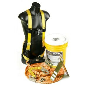 Guardian Fall Protection 00815 Bucket Of Safe tie Fall Protection Safety Kit
