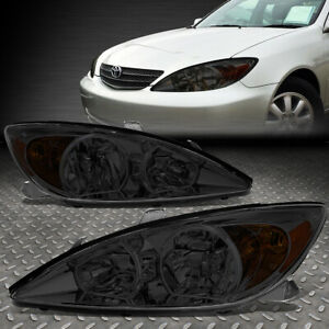 For 02 04 Toyota Camry Smoked Housing Amber Corner Headlight Replacement Lamps