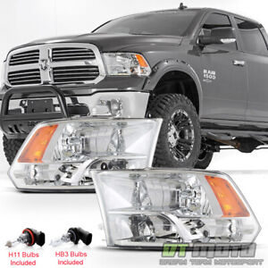 2009 2018 Dodge Ram 1500 2500 3500 Factory Quad Style Headlights Headlamps 09 18