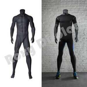 Male Fiberglass Headless Athletic Style Mannequin Dress Form Display mz ni 2