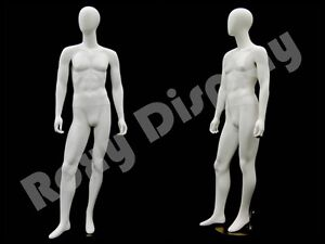 Fiberglass Male Mannequin Egg Head Dress Form Display md gm53w2 s