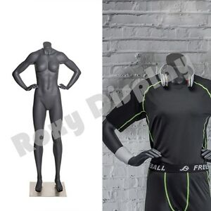 Female Fiberglass Headless Athletic Style Mannequin Dress Form Display mz ni 9