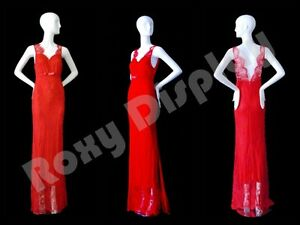 Female Fiberglass Glossy White Mannequin Abstract Style Roxy Display md xd04w