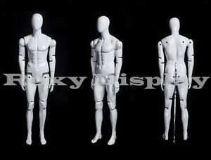 Male Mannequin Dress Form Display With Flexible Head Arms And Legs mz hm01weg
