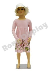 Child Plastic Realistic Mannequin Dress Form Display ps kd 5 free Wig