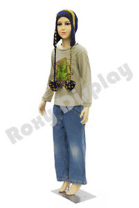 Child Plastic Realistic Mannequin Dress Form Display ps d1 d02 free Wig