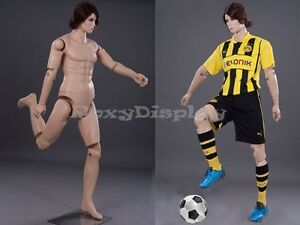 Male Mannequin Dress Form Display With Flexible Head Arms And Legs md z mfxf