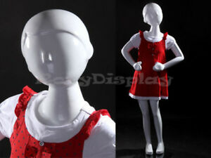 Child Fiberglass Abstract Mannequin Dress Form Display mz tom4