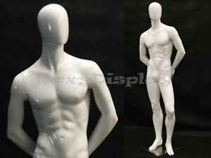 Fiberglass Male Egg Head Mannequin Dress Form Display md c29