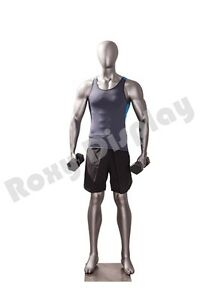 Male Fiberglass Sport Athletic Style Mannequin Dress Form Display mc jsm03