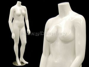 Female Mature Plus Size Headless Mannequin With High Heel Feet nancybw2s md