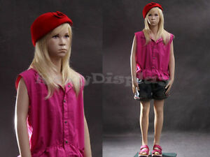 Child Fiberglass Mannequin Dress Form Display mz sk02
