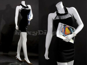 Female Fiberglass Headless Style Mannequin Dress Form Display mz lisa10bw