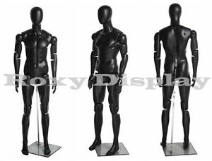 Male Mannequin Dress Form Display With Flexible Head Arms And Legs hm01bkeg mz