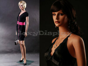 Female Fiberglass Mannequin Beautiful Face With Elegant Pose Style mz lisa1