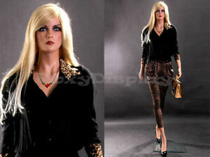 Female Fiberglass Mannequin Beautiful Face With Elegant Pose Style mz lisa11