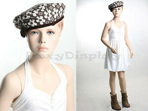 Child Fiberglass With Molded Hair Mannequin Dress Form Display mz kd8