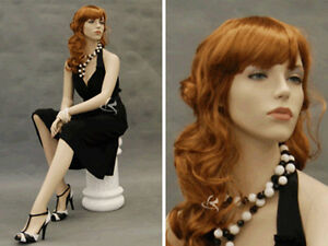 Female Fiberglass Mannequin Pretty Face Elegant Looking Dress Form md 9020