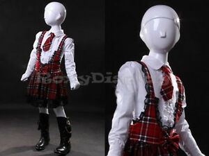 Child Fiberglass Abstract Mannequin Dress Form Display mz tom7