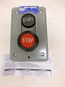 New Square D Push Button Control Station Start stop 9001bw250