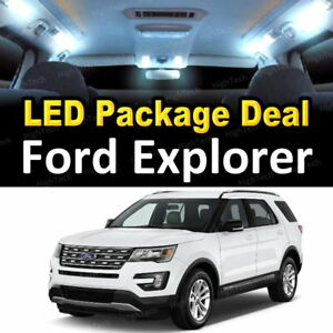 4x White Led Lights Interior Package Deal For 2013 2015 2016 2017 Ford Explorer