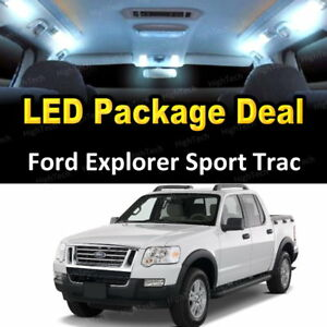 11x White Led Lights Interior Package Deal 2007 2010 Ford Explorer Sport Trac