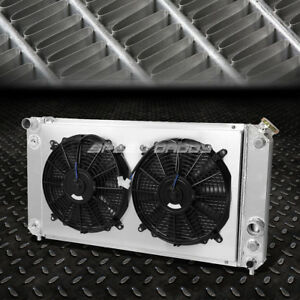 For Chevy Blazer S10 Gmc Sonoma Jimmy Aluminum 3 Core Row Radiator W Cooling Fan