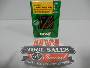 Spax Screws Made In Usa 3 1 2 Interior Flat Head 10 5lbs