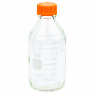 Pyrex 1l Round Media Storage Bottles With Gl45 Screw Cap case Of 10