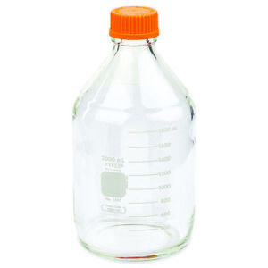 Pyrex 2l Round Media Storage Bottles With Gl45 Screw Cap single