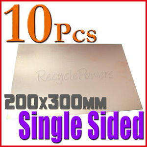 10 Pcs Copper Clad Laminate Circuit Boards Fr4 Pcb 200mm X 300mm Single Sided