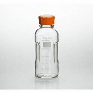 Pyrex Slimline Media Bottle Easy Pour Corning 250ml Glass case Of 4