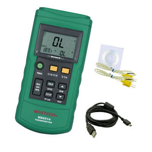 Dual Channel Digital Thermometer With 2 K type Thermocouple Sensor Probe