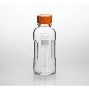 Pyrex Slimline Media Bottle Easy Pour Corning 500ml Glass single