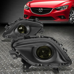 For 14 16 Mazda 6 Smoked Lens Front Bumper Driving Fog Light Lamp W Bezel Switch
